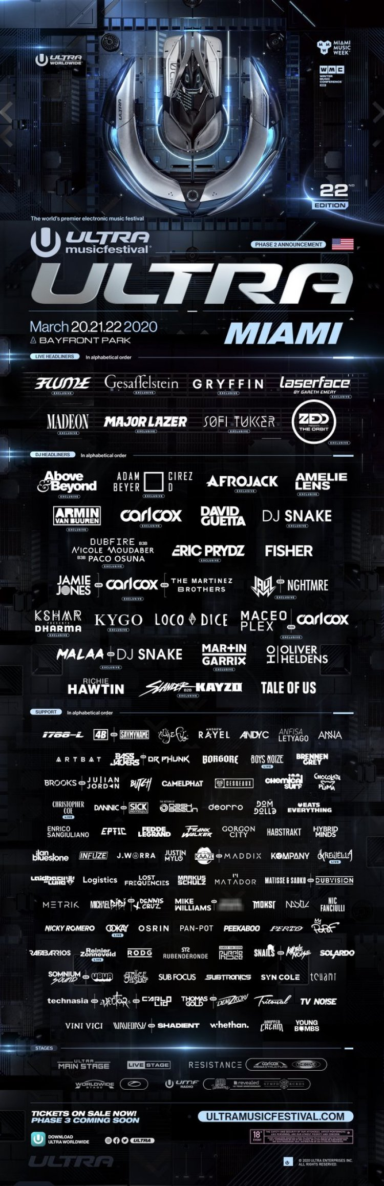 Ultra Music Festival Canceled For Second Year In A Row Due To Coronavirus Concerns